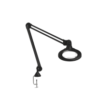 "Luxo KFM LED ESD, 45"" arm, 5-D lens, and edge clamp mount, black"