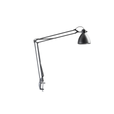 Luxo L-1 LED task light with edge clamp, Silver Grey