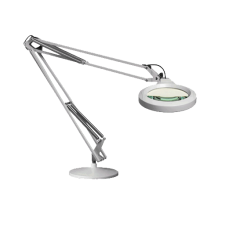 "Luxo Magnifier LFM LED, 30"" arm, 5-D lens and base, Light Grey"