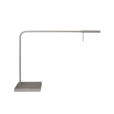 Luxo Ninety LED task light with table/desk base, Grey Gloss