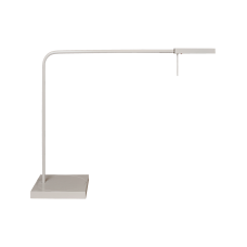 Luxo Ninety LED task light with table/desk base and USB port, White Gloss