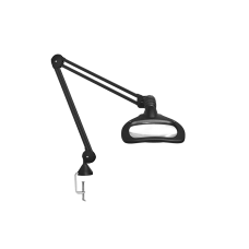 "Luxo WAVE LED ESD, 45"" arm, 5-D lens, and edge clamp mount, black"