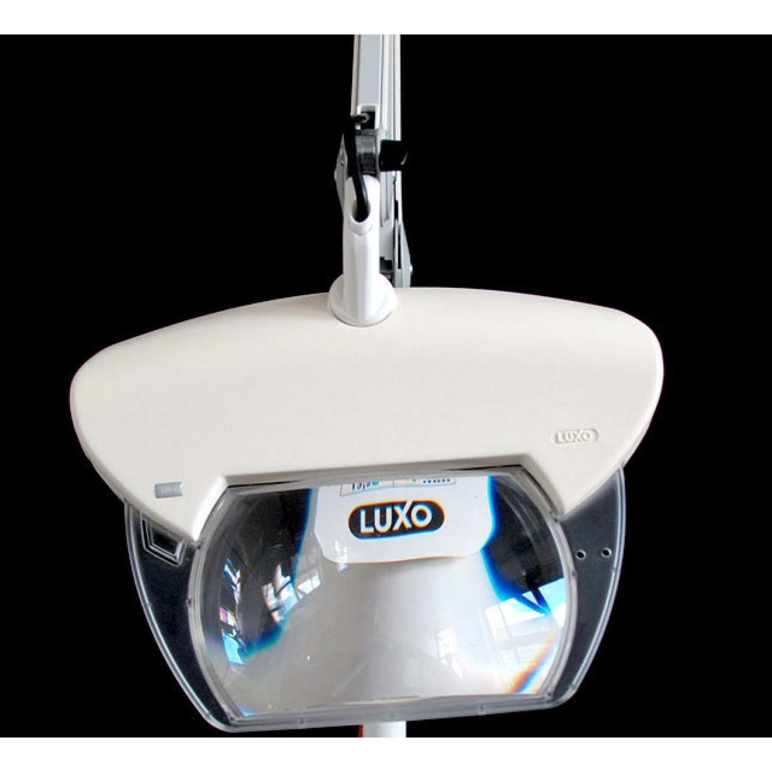 "Luxo Magnifique, 3-Diopter, 30"" arm, edge clamp, White"