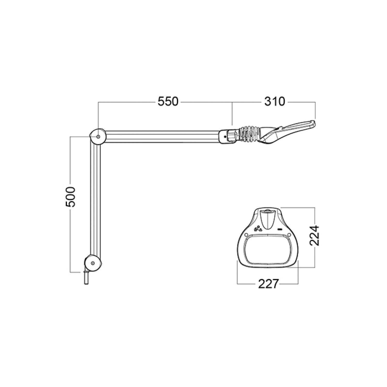 Luxo 18945WT Wave LED Measurements