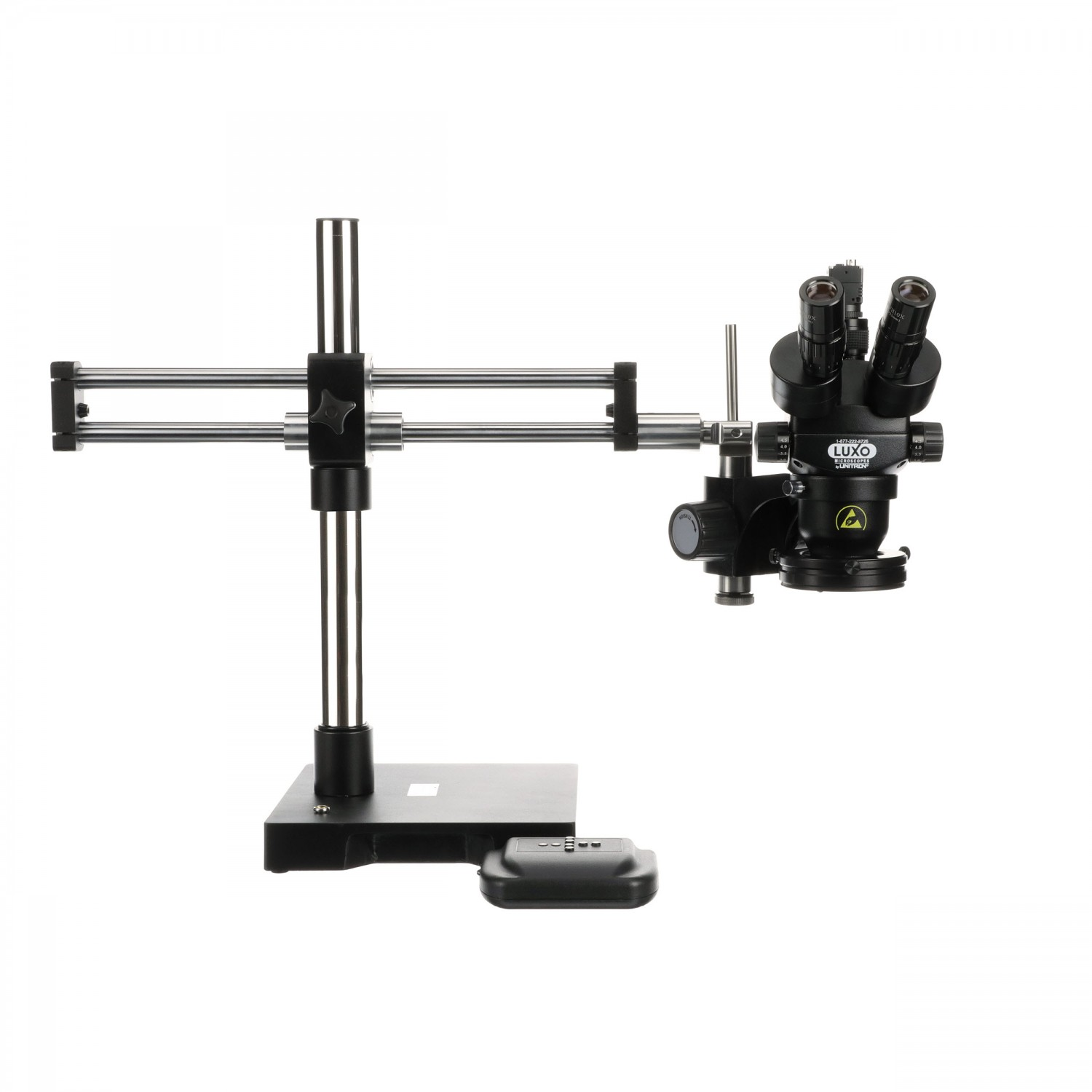Luxo Microscope Syetem ESD-Safe, S-Z 23mm TRU Trinocular, RB Stand, Dimmable LED-High Output Ring Light, USB 3.0 Camera