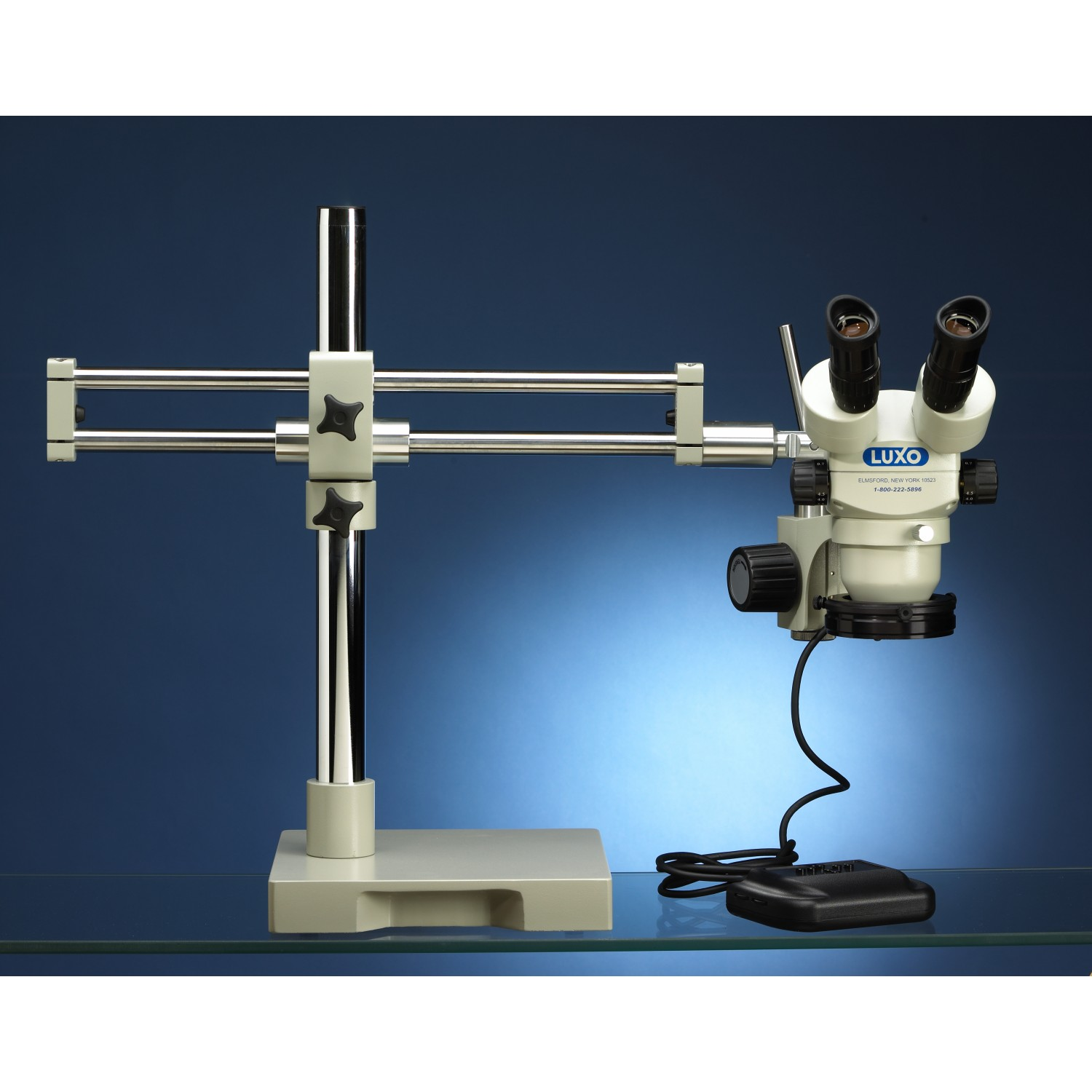 Luxo Microscope Syetem S-Z 23mm Binocular, RB Stand, Dimmable LED Ring Light