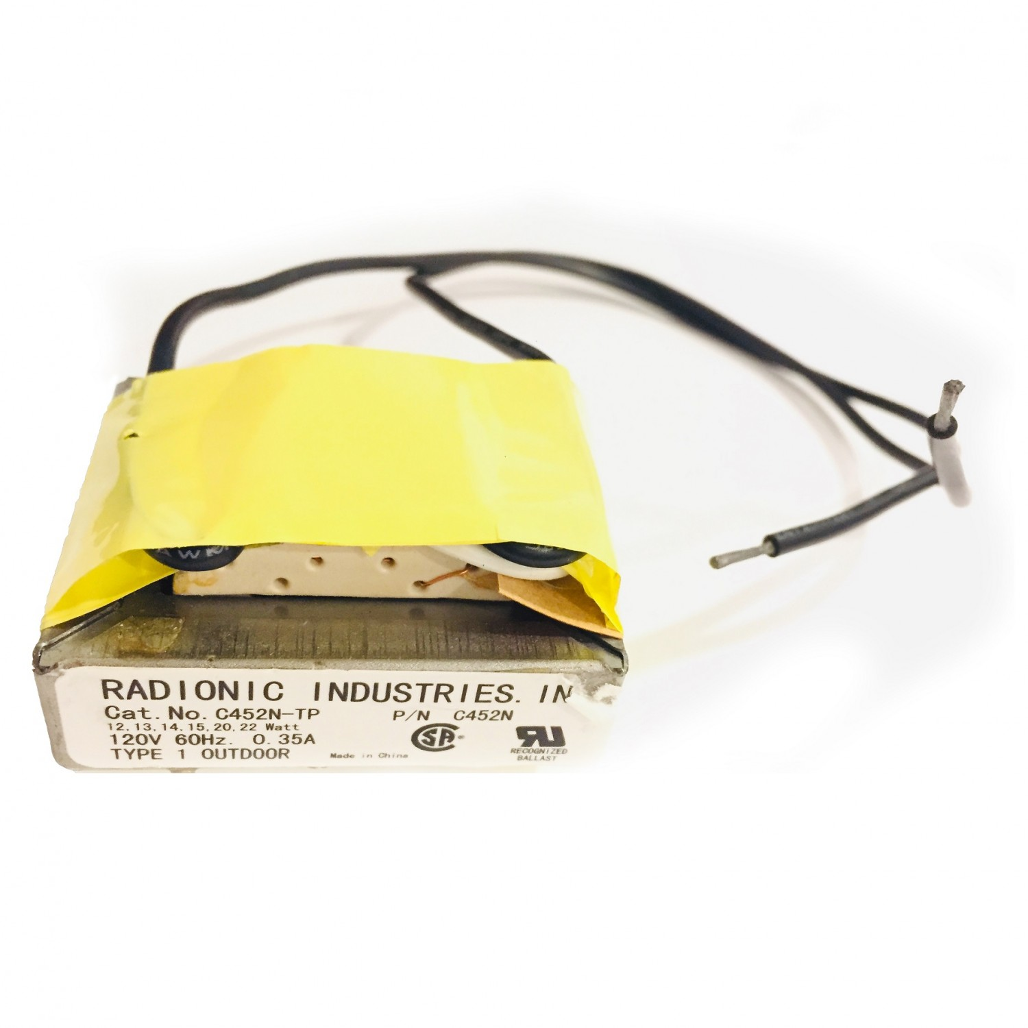 Luxo Radionic Lighting Ballast 34828, Front View